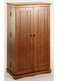 Mission Wood Multimedia Cabinet in Media Storage Cabinets